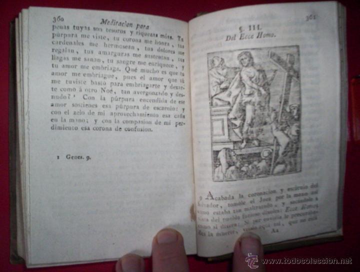 Libros antiguos: religion fr luis de granada libro de oracion y meditacion madrid segovia espinosa 1802 grabados piel - Foto 2 - 43198175