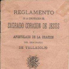 Libros antiguos: REGLAMENTO DE LA CONGREGACION DEL SAGRADO CORAZON DE JESUS DE 1891 DE 20 HOJAS. Lote 43259883