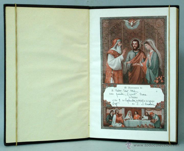Libros antiguos: Libro de la Familia Cristiana Francisco Tena Ed Católica 1935 con nombres contrayentes matrimonio - Foto 2 - 222736965