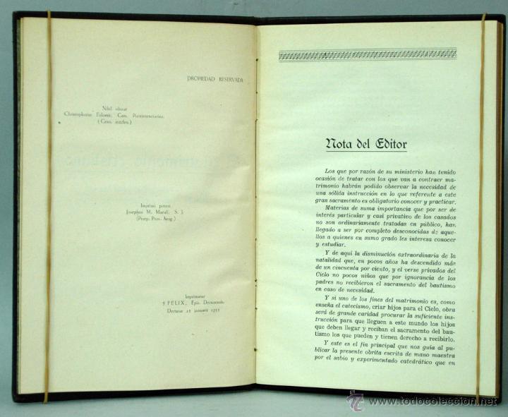 Libros antiguos: Libro de la Familia Cristiana Francisco Tena Ed Católica 1935 con nombres contrayentes matrimonio - Foto 3 - 222736965