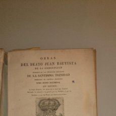 Libros antiguos: JUAN BAUTISTA DE LA CONCEPCIÓN - OBRAS TOMO VI - 1830 - REGLA DEL ORDEN PRACTICA DE PRELADOS MONJAS. Lote 43601483