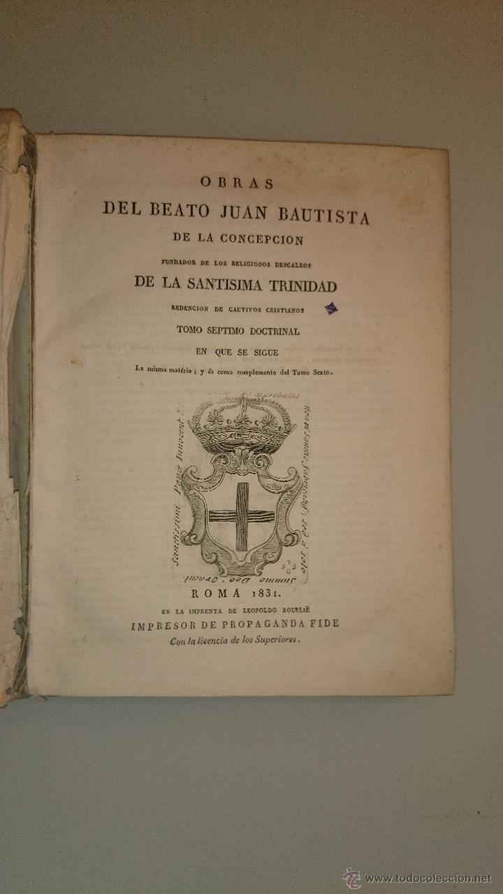JUAN BAUTISTA DE LA CONCEPCIÓN - OBRAS TOMO VII - 1831 - REGLA DEL ORDEN PRACTICA DE PRELADOS MONJAS (Libros Antiguos, Raros y Curiosos - Religión)