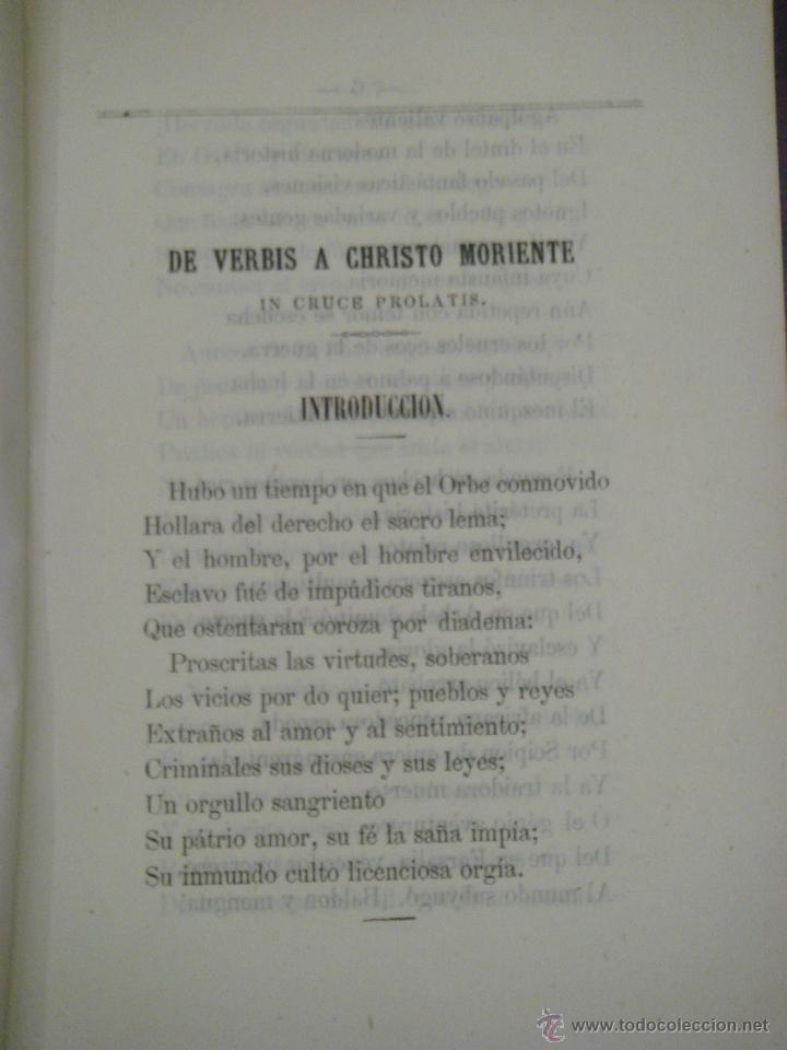 Libros antiguos: LAS SIETE PALABRAS. ESCRITAS EN VERSO. 1867. - Foto 2 - 43620091