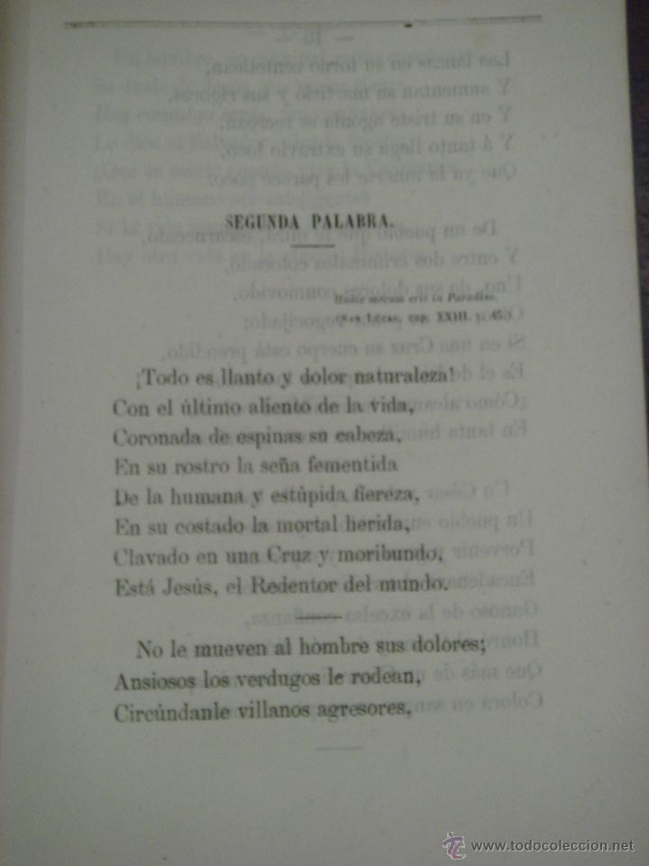 Libros antiguos: LAS SIETE PALABRAS. ESCRITAS EN VERSO. 1867. - Foto 3 - 43620091