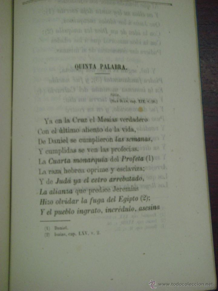 Libros antiguos: LAS SIETE PALABRAS. ESCRITAS EN VERSO. 1867. - Foto 4 - 43620091
