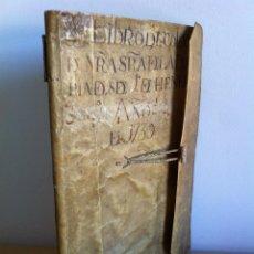 Libros antiguos: LIBRO DE COLECTURA DE NRA.SRA. DE LA PORTERÍA. DESDE 1º DE HENERO AÑO 1739. MANUSCRITO. PIEL.. Lote 120952046