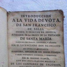 Alte Bücher - Introduccion a la vida devota de San Francisco de Sales 1771 - 43714295