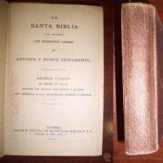 Libros antiguos: LA SANTA BIBLIA QUE [...] SAGRADOS LIBROS DEL ANTIGUO Y NUEVO TESTAMENTO / DE CIPRIANO DE VALERA. Lote 262320465