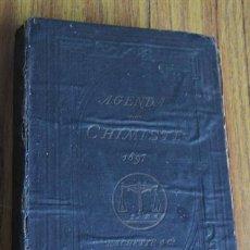 Libros antiguos: AGENDA DU CHIMISTE 1897 - REVUE - EDT HACHETTE, PARIS, 1897. Lote 43851289