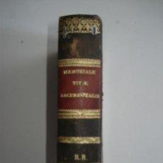Libros antiguos: MEMORIALE VITAE SACERDOTALIS - 1853. Lote 44007770