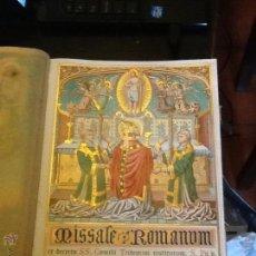 Libros antiguos: MISSALE ROMANUM. ROMA 1889. GRABADOS. PIEL. 31X22X6CM. CIERRES METÁLICOS Y TACHUELAS,. Lote 44115687