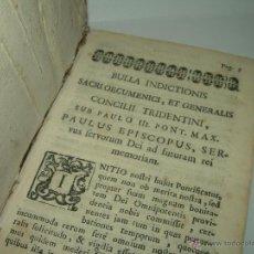 Libros antiguos: ANTIGUO LIBRO DE PERGAMINO......BULLA INDICTIONIS....CONCILII TRIDENTINI...PAULO III.. Lote 44162640