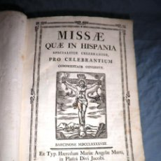 Libros antiguos: MISSAE QUAE IN HISPANIA - AÑO 1798 - IN-FOLIO - BELLOS GRABADOS.. Lote 44178345
