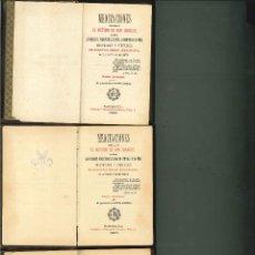 Libros antiguos: MEDITACIONES SEGÚN EL MÉTODO DE SAN IGNACIO. 3 VOLS.. Lote 44199377