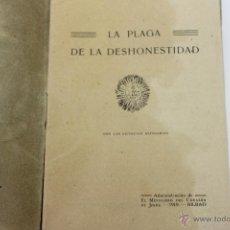 Libros antiguos: LA PLAGA DE LA DESHONESTIDAD, EL MENSAJERO DE JESUS 1919 BILBAO. Lote 44384165