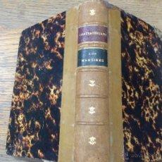 Old books - LOS MARTIRES O EL TRIUNFO DE LA RELIGION CRISTIANA - CHATEAUBRIAND - AÑO 1884 - 44672002