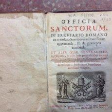 Libros antiguos: OFICIA SANCTORUM IN BREVIARIO ROMANO. Lote 44721519