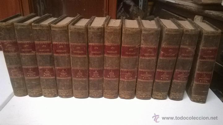 LOTE COLECCIÓN LIBROS ANTIGUOS AÑO CRISTIANO SIGLO XVIII COMPLETA 12 TOMOS MESES (Libros Antiguos, Raros y Curiosos - Religión)