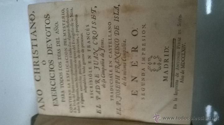 Libros antiguos: LOTE COLECCIÓN LIBROS ANTIGUOS AÑO CRISTIANO SIGLO XVIII COMPLETA 12 TOMOS MESES - Foto 3 - 45127292