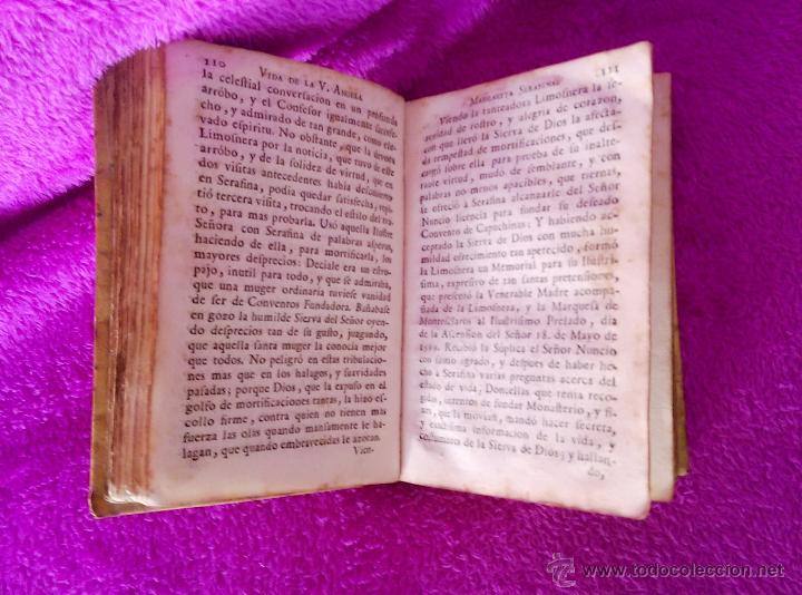 Libros antiguos: EPITOME DE LA ADMIRABLE VIDA DE LA V. M. SOR ANGELA MARGARITA SERAFINA, JUAN FOGUERES 1743 - Foto 4 - 45213925