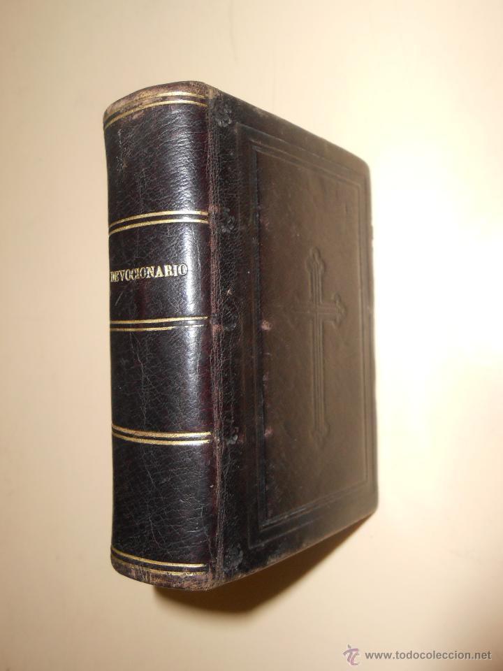 DEVOCIONARIO***DE LAVALLE ABREVIADO AÑO 1880***ORACIONES SANTO SACRIFICIO DE LA MISA (Libros Antiguos, Raros y Curiosos - Religión)
