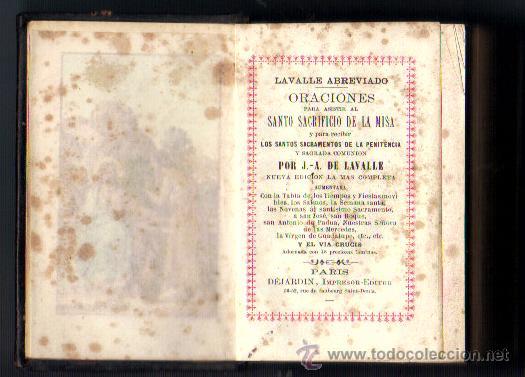 Libros antiguos: DEVOCIONARIO***DE LAVALLE ABREVIADO AÑO 1880***ORACIONES SANTO SACRIFICIO DE LA MISA - Foto 2 - 45675819