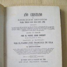Libros antiguos: AÑO CRISTIANO O EJERCICIOS DEVOTOS PARA TODOS LOS DÍAS DEL AÑO TOMO II MADRID 1867. Lote 45738142