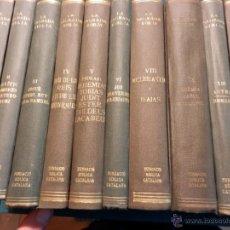 Libros antiguos: LA SAGRADA BIBLIA - FUNDACIÓ BÍBLICA CATALANA - EDITORIAL ALPHA AÑOS 30 - 10 TOMOS EN CATALÀ. Lote 45878997