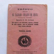 Libros antiguos: LIBRO,TRIDUO AL CORAZON DE JESUS, VALLADOLID 1896 CON 28 PAGINAS. Lote 45932634