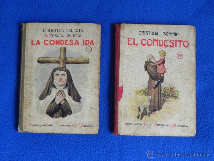 *LA CONDESA IDA -- EL CONDESITO*. DOS LIBROS DE BIBLIOTECA SELECTA. AÑO 1926 (Libros Antiguos, Raros y Curiosos - Religión)