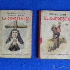 Libros antiguos: *LA CONDESA IDA -- EL CONDESITO*. DOS LIBROS DE BIBLIOTECA SELECTA. AÑO 1926. Lote 46220154
