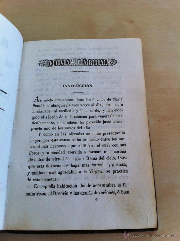 Libros antiguos: EL MES DE MARÍA Ó EL MES DE MAYO. CONSAGRADO Á MARÍA SANTÍSIMA. IMPRENTA D. EUSEBIO AGUADO. AÑO 1847 - Foto 12 - 46906021
