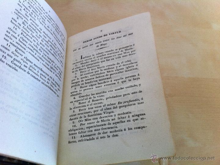 Libros antiguos: EL MES DE MARÍA Ó EL MES DE MAYO. CONSAGRADO Á MARÍA SANTÍSIMA. IMPRENTA D. EUSEBIO AGUADO. AÑO 1847 - Foto 13 - 46906021