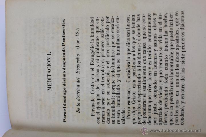 Libros antiguos: L-5916. MEDITACIONES DIARIAS DE LOS MISTERIOS DE NUESTRA SANTA FE. P. ALONSO DE ANDRADE. 1857 - Foto 5 - 46988824