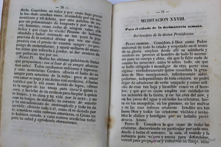 Libros antiguos: L-5916. MEDITACIONES DIARIAS DE LOS MISTERIOS DE NUESTRA SANTA FE. P. ALONSO DE ANDRADE. 1857 - Foto 6 - 46988824