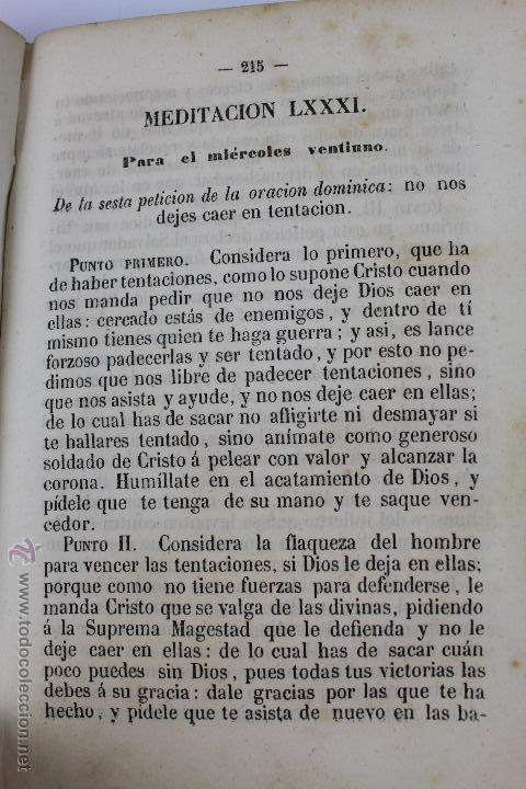 Libros antiguos: L-5916. MEDITACIONES DIARIAS DE LOS MISTERIOS DE NUESTRA SANTA FE. P. ALONSO DE ANDRADE. 1857 - Foto 8 - 46988824