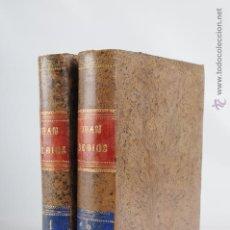 Libros antiguos: JUAN DE DIOS TOMO 1 Y 2 POR D. EMILIO MORENO CEBADA AÑO 1886. Lote 47188356
