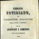 Libros antiguos: EJERCICIO COTIDIANO (1857). Lote 47304467