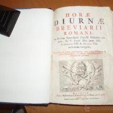 Libros antiguos: HORAE DIURNAE, BREVIARII ROMANI (1767). Lote 47319484