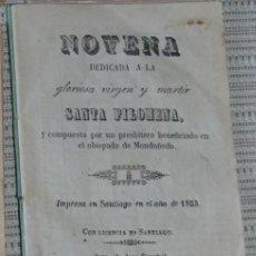 Libros antiguos: NOVENA DEDICADA A SANTA FILOMENA, 1867, LIBRO ANTIGUO DEL SIGLO XIX . Lote 47424189