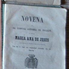Libros antiguos: NOVENA A LA MISTICA AZUCENA DE MADRID, BEATA MARIANA DE JESUS, 1857, LIBRO DEL SIGLO XIX RARO ESCASO. Lote 47424513