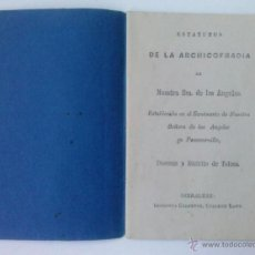 Libros antiguos: ESTATUTOS DE LA ARCHICOFRADIA DE NUESTRA SEÑORA DE LOS ANGELES, GIBRALTAR, SIGLO XIX, ESCASO Y RARO. Lote 47432519
