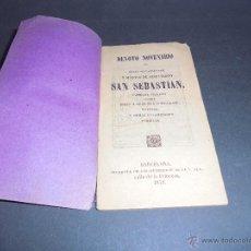 Libri antichi: NOVENA - 1879 DEVOTO NOVENARIO AL GLORIOSO CABALLERO Y MARTIR DE JESUCRISTO SAN SEBASTIAN ESPECIAL . Lote 47820678