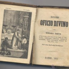 Libros antiguos: NOVISIMO OFICIO DIVINO-MADRID 1854. Lote 48159791