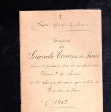 Libros antiguos: PANEGIRICO DEL SAGRADO CORAZON DE JESUS. 1907. CADIZ. IGLESIA DEL SAGRADO CORAZON. Lote 48314846