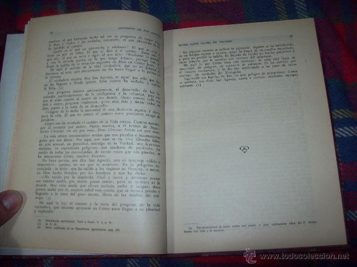 Libros antiguos: LECCIONES DE SAN AGUSTÍN + NOCIONES FUNDAMENTALES DE MÍSTICA. 1931 Y 1941. TODO UNA JOYITA.VER FOTOS - Foto 4 - 48425201