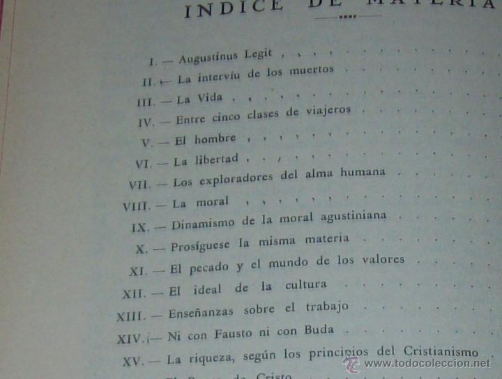 Libros antiguos: LECCIONES DE SAN AGUSTÍN + NOCIONES FUNDAMENTALES DE MÍSTICA. 1931 Y 1941. TODO UNA JOYITA.VER FOTOS - Foto 11 - 48425201