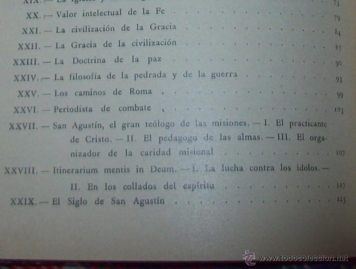 Libros antiguos: LECCIONES DE SAN AGUSTÍN + NOCIONES FUNDAMENTALES DE MÍSTICA. 1931 Y 1941. TODO UNA JOYITA.VER FOTOS - Foto 13 - 48425201