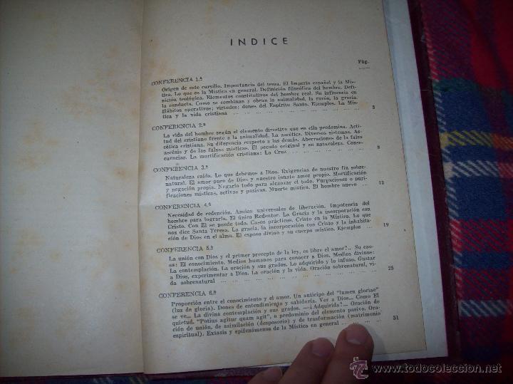 Libros antiguos: LECCIONES DE SAN AGUSTÍN + NOCIONES FUNDAMENTALES DE MÍSTICA. 1931 Y 1941. TODO UNA JOYITA.VER FOTOS - Foto 20 - 48425201