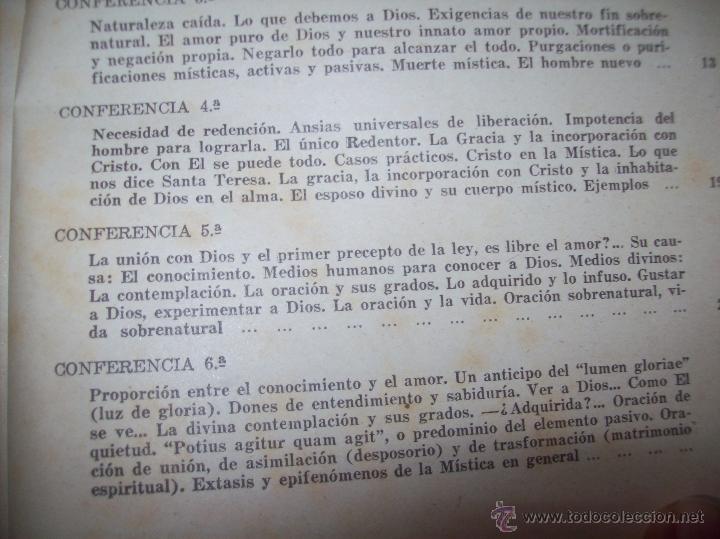 Libros antiguos: LECCIONES DE SAN AGUSTÍN + NOCIONES FUNDAMENTALES DE MÍSTICA. 1931 Y 1941. TODO UNA JOYITA.VER FOTOS - Foto 22 - 48425201